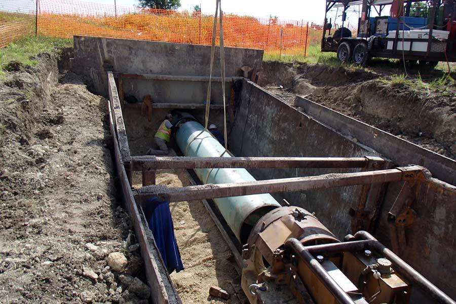 Water Transmission Main - Bluebonnet Water Supply Corporation - Moffat, Texas