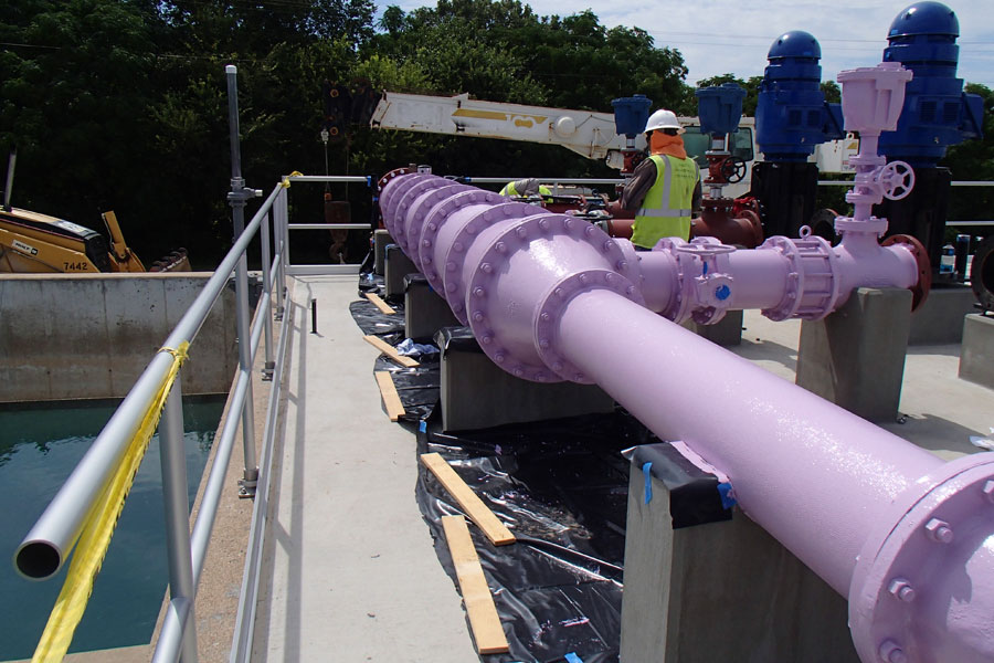 "Temple-Belton Wastewater Treatment Plant 24"" Reclaimed Effluent Line and Pump Station – Temple, Texas"
