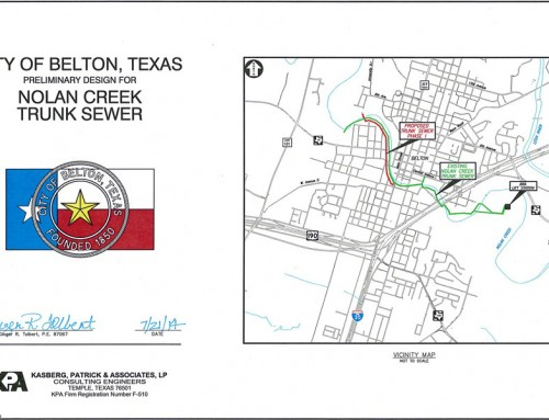 Nolan Creek Trunk Sewer Preliminary Design Report – Belton, Texas