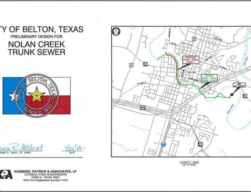 Nolan Creek Trunk Sewer Preliminary Design Report – Belton, Texas